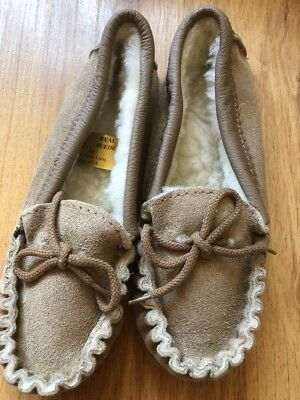 Size 4 Boys Moccasin  Slipper With Sole