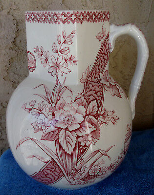 Antique Transferware Turner Sons Benedick Lg Pitcher Aesthetics Secessesionist