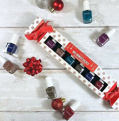 Technic Metallic Nail Varnish Polish Christmas Gift Set Gold Glitter Pink Bronze