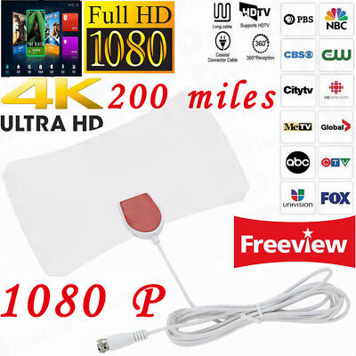200 Mile Range Antenna Digital TV HD Skylink 4K Antena Digital Indoor HDTV 1080p