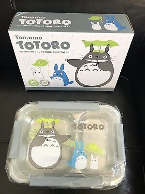 0fbe3ec7a246 KIDS BENTO LUNCH Box Totoro Gray Stainless Steel 2 Compartments with Fork  Spoon