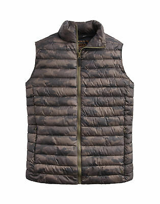 Joules Mens Go To Lightweight Padded Jacket Gilet - Camouflage All Sizes