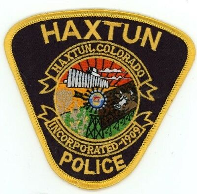 Haxtun Colorado Co Police Colorful See Below For Great Deal
