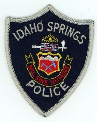 Idaho Springs Colorado Co Police Colorful Style #1 See Below For Great Deal