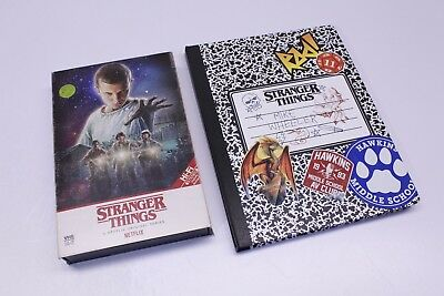 Stranger Things Season 1 4K Ultra HD Blu Ray DVD Collectors Set Poster Notebook