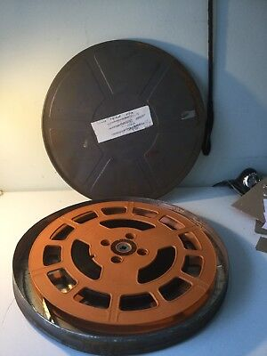Vintage 16mm Film Reel And Metal Tatty Case Not For Public Viewing On Box