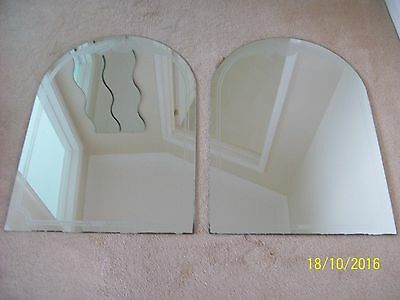 Art deco arched mirrors (pair)