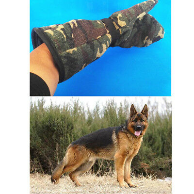 MagiDeal Camouflage Pet Dog Training and Catching Gloves Bite Proof