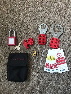 Lockout Tag out Equipment Safety Secure set