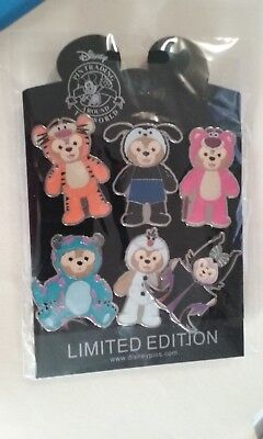Disney 6 Pin Booster Complete Set Duffy Bear Costumes Tigger Maleficent + New