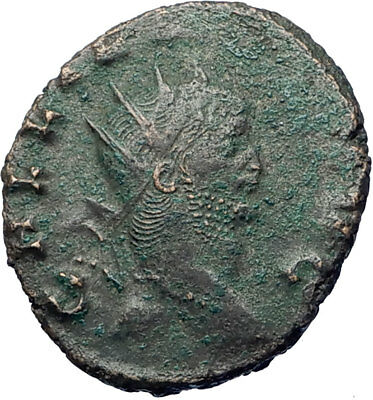 GALLIENUS son of Valerian I 267AD Authentic Ancient Roman Coin Antelope i73490