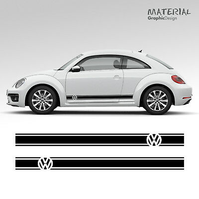 Volkswagen VW Beetle Car Side Stripes Graphics Stickers Decals - Transfer RSI