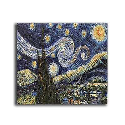 YaSheng Art - Hand Painted Starry Night by Van Gogh Famous Oil Paintings Modern