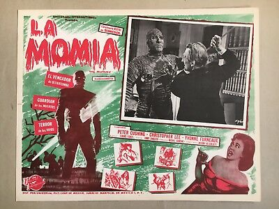 The Mummy ( La Momia) 1959, Mexican Lobby Card, Starring Peter Cushing, stab