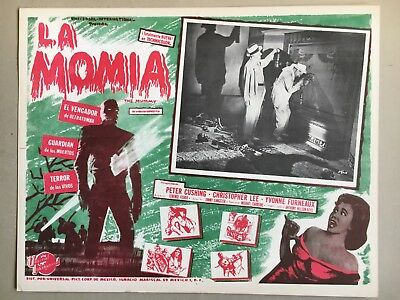 The Mummy ( La Momia) 1959, Mexican Lobby Card, Starring Peter Cushing, Open