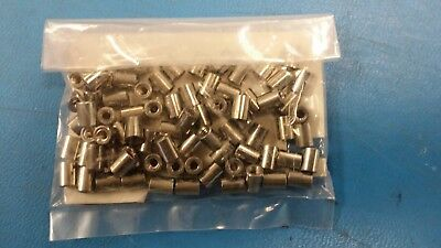 (10PC) 1547 KEYSTONE SPACER/STANDOFF BRASS 4.75MM X 6.35MM 4 - 40 Threaded Round
