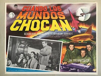 When Worlds Collide (Cuando Los Mundos Chocan) 1951, Mexican Lobby Card, Stare
