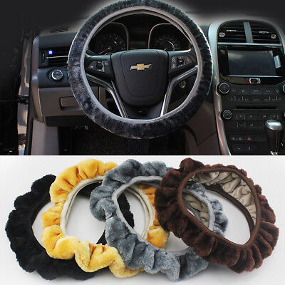 New Universal Soft Warm Short Plush Fur Winter Car Steering-Wheel Cover Elastic