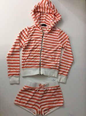 Juicy Couture Girls 2 Piece Outfit Set Shorts & Hoodie Age 6 Years Vgc
