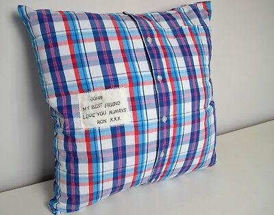 Personalised Memory Keepsake Cushion made from your choice of clothing