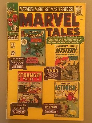 Marvel Tales 4 VG+ 4.5 1966 Spider-Man Thor Ant-Man $3.95 unlimited Ship