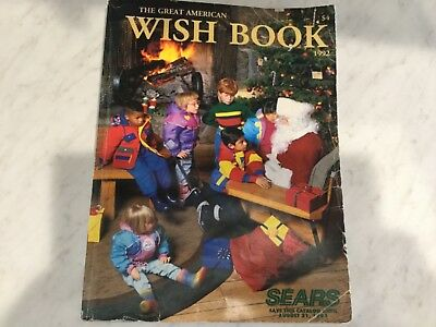 Sear Wish Book 1992 Collectible,830 Pages Big Catalog