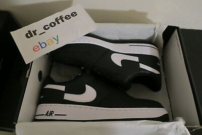 new arrival cc1d7 e2c8c NIKE SUPREME CDG Air Force 1 One Low Size 7-13 Black White Split New  AR7623-001