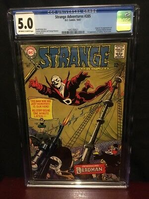 Strange Adventures #205 CGC 5.0 - OW/W Pages - 1st appearance of Deadman DC 1967
