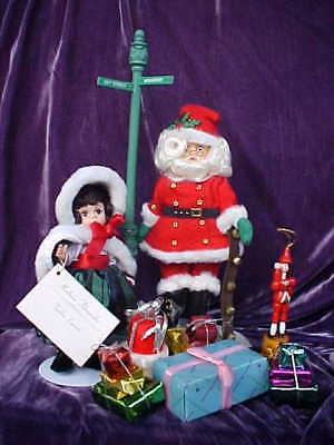"Madame Alexander Gift Set Miracle on 34th Street 10"" Santa & 8"" Virginia & More!"