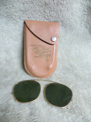 Pair Of Vintage Ray-Ban Clip On Sunglasses In Original Case