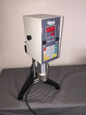 BROOKFIELD DV-II Digital VISCOMETER LVTDVCP-II with Stand, Case & Cone Spindle