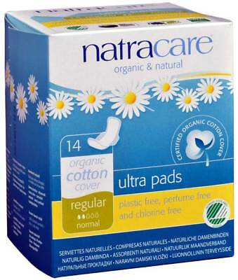 Natracare Natural Ultra Pads w/wings Regular w/organic cotton Cover 14 Pack