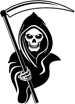 4 sizes grim reaper death skull skeleton wall art sticker viny decal graphic car