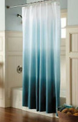 Target Home Threshold Ombre Cool Blue Shower Curtain Teal Aqua 72X72 NEW HAVE 4