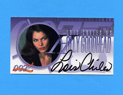 Women of James Bond autograph card A-3 ~ LOIS CHILES as Holly Goodhead wide auto