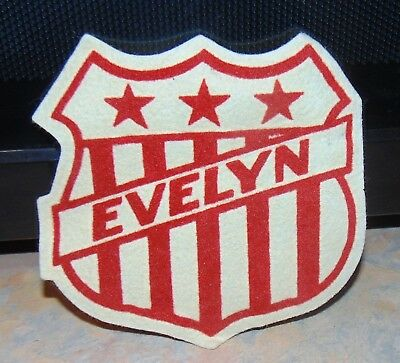 """Vintage Felt Crafters Evelyn Red White Star Stripe Patch 4 1/2"""" x 4 3/4"""""""