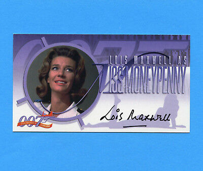 Women of James Bond autograph card A-2 ~ LOIS MAXWELL as Miss Moneypenny ~ auto