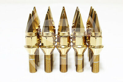 28mm Shank Set of 20AodHan Black 14x1.5 LB118 Spiked Lug Bolts 118mm Conical
