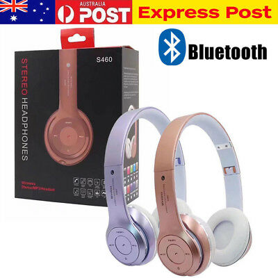 Bluetooth Wireless Foldable Headset Stereo Noise Cancelling S460 Headphones AU