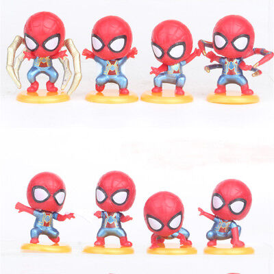 8 PCS Spider-Man:Homecoming Spiderman Action Figure Cake Topper Kids Doll Toys
