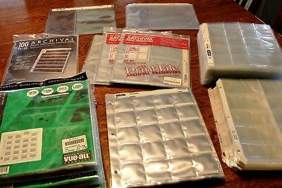 Photo Album Assorted 35mm 2x2 Slide Storage Sheet lot Some new, some used