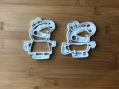 Peppa and George Uk Seller Plastic Biscuit Cookie Cutter Fondant Cake Decorating