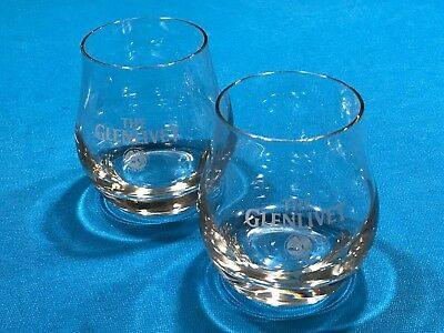 Collectible Advertising Set of 2 Glenlivet Scotch Tulip Snifters Glasses 9 oz
