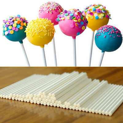 100x Lolly Cake Making Chocolate Stick Baking Mould Crafts Candy Lollipop Sucker