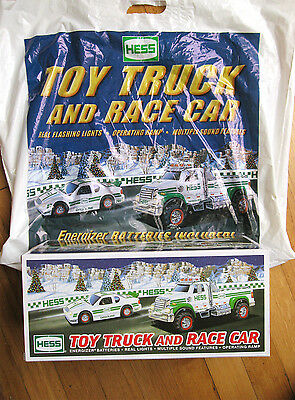 NEW Collectible Hess Truck 2011 Toy Truck & Race Car With Official Bag