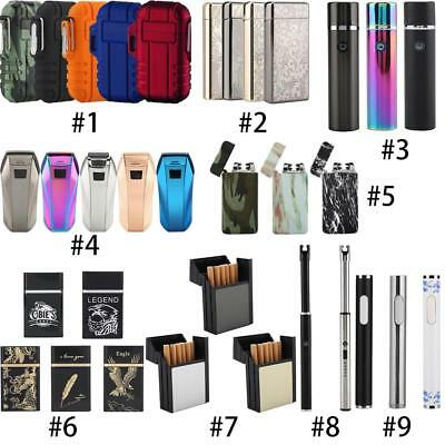 Electric Double Arch Pulse Plasma Lighter Flameless Metal Cigarette USB Gift L