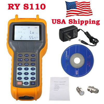USA Ship Digital RY-S110 CATV Cable Tester TV Signal Level Meter 47~870MHz