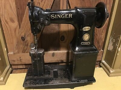 """SINGER 52W22 Post Bed 2-Needle 1/4"""" Gauge Industrial Sewing Machine Head Only"""