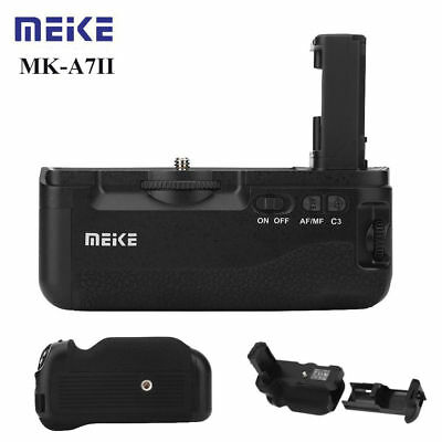 Meike MK-A7II Battery Grip Holder NP-FW50 Battery for Sony A7II A7R II Camera LS