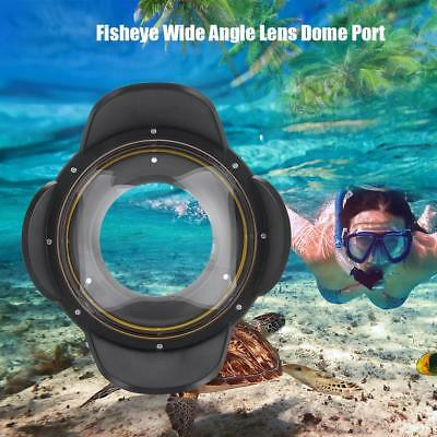 67mm Optical Fisheye Lens Shade Wide Angle Dome Port Lens Underwater Housing LS